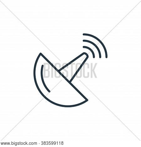 antenna icon isolated on white background from smarthome collection. antenna icon trendy and modern