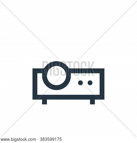 projector icon isolated on white background from electronic collection. projector icon trendy and mo