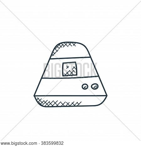 ufo icon isolated on white background from space and aircraft collection. ufo icon trendy and modern