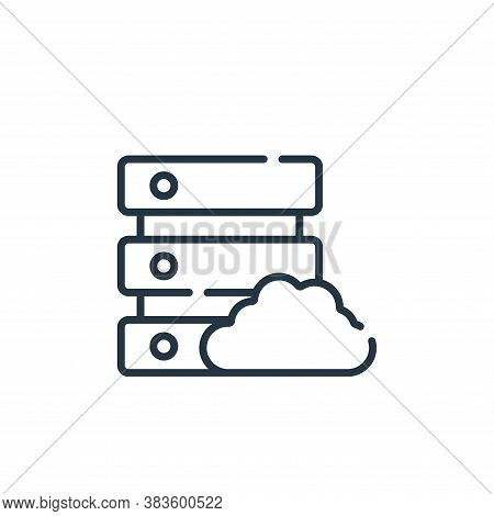 database icon isolated on white background from programming collection. database icon trendy and mod