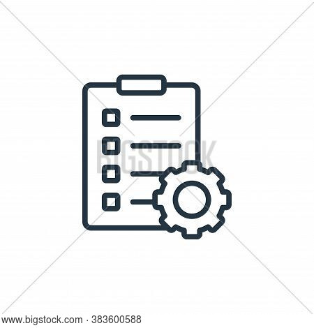 to do icon isolated on white background from seo and website collection. to do icon trendy and moder