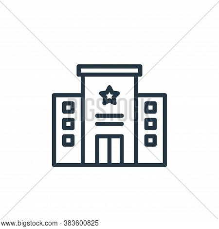 police station icon isolated on white background from crime collection. police station icon trendy a