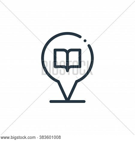 location icon isolated on white background from books collection. location icon trendy and modern lo