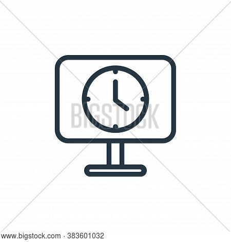 time icon isolated on white background from seo collection. time icon trendy and modern time symbol