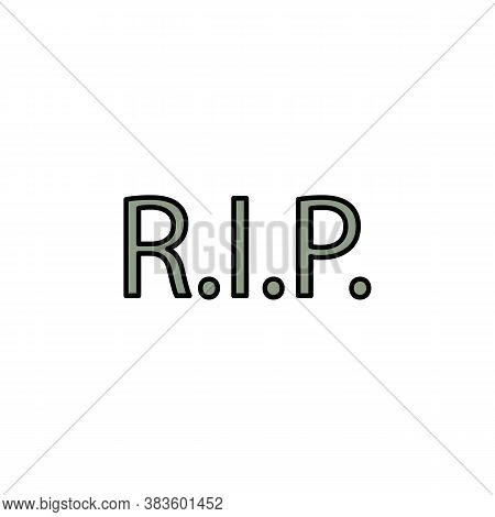 Rip, Death Outline Icon. Detailed Set Of Death Illustrations Icons. Can Be Used For Web, Logo, Mobil