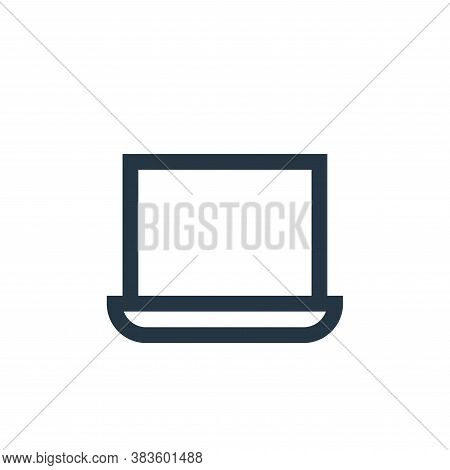 laptop icon isolated on white background from electronic collection. laptop icon trendy and modern l