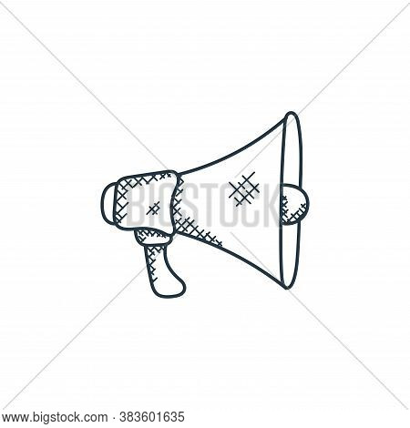 megaphone icon isolated on white background from music collection. megaphone icon trendy and modern