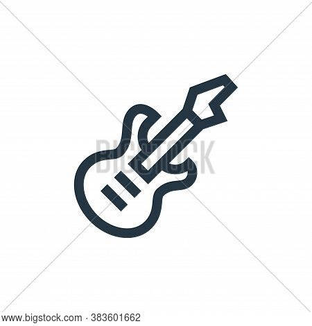 bass guitar icon isolated on white background from music festival collection. bass guitar icon trend