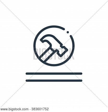 durable icon isolated on white background from fabric features collection. durable icon trendy and m