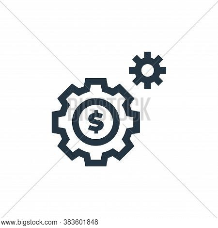 settings icon isolated on white background from economy collection. settings icon trendy and modern
