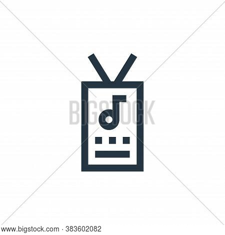 staff icon isolated on white background from music festival collection. staff icon trendy and modern