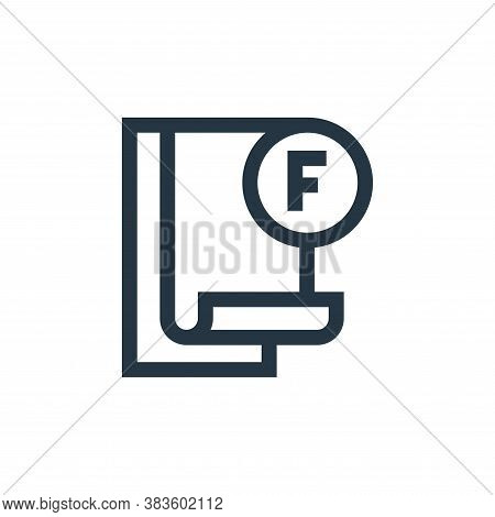 failed icon isolated on white background from education collection. failed icon trendy and modern fa