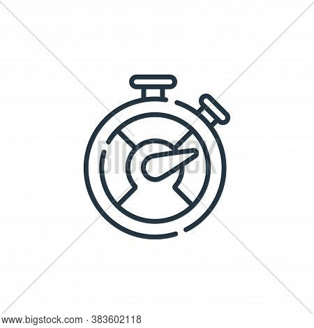 stopwatch icon isolated on white background from programming collection. stopwatch icon trendy and m