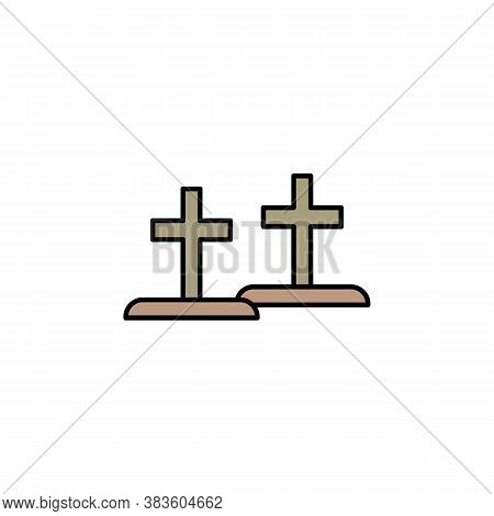 Graves, Death Outline Icon. Detailed Set Of Death Illustrations Icons. Can Be Used For Web, Logo, Mo