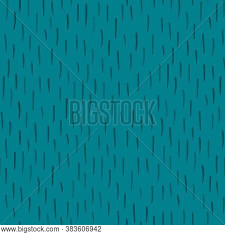 Ornamental Vintage Seamless Pattern On Cyan Blue Background For Fabrics, Scrapbooking, Wrapping.