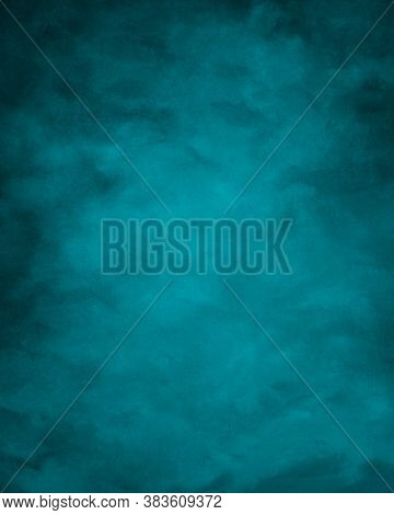 Blank Cyanl Blue Color Paper Texture Background, Cyan Blue Paper Surface For Art And Design Backgrou