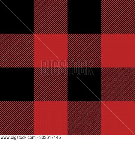 Tartan Firebrick Red Plaid. Scottish Pattern In Black And Orange Cage. Scottish Cage. Traditional Sc
