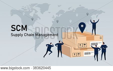 Scm Supply Chain Management Delivery Inventory Logistic World Wide Commerce Industry