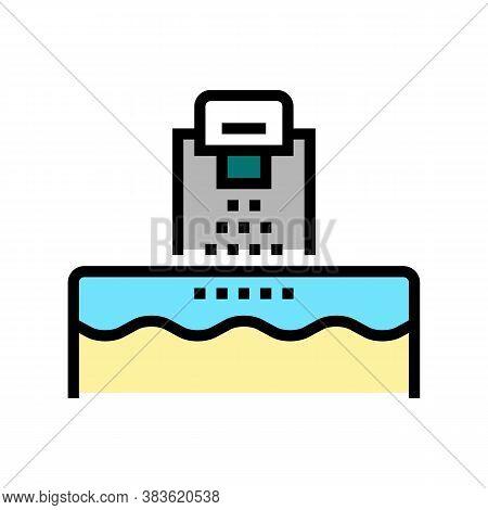 Washing Machine Color Icon Vector. Washing Machine Sign. Isolated Symbol Illustration