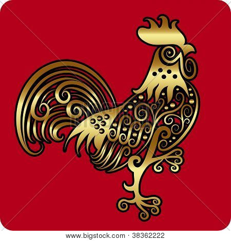 Golden Rooster Ornament