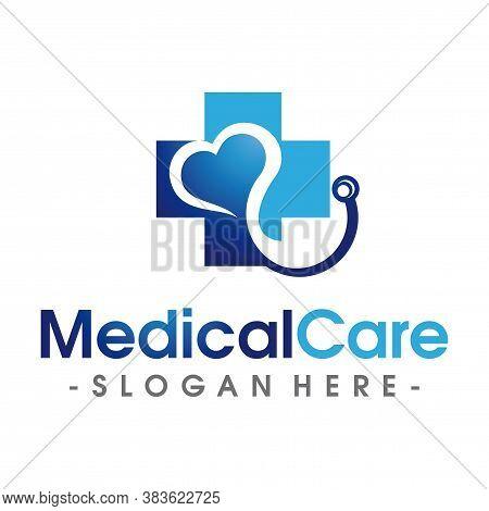 Hospital Logo, Medical And Health Care Logo Vector