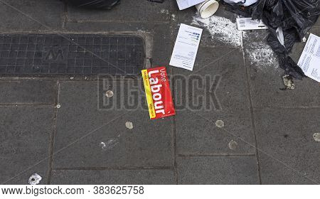 Bristol, Uk - July 5, 2016: A Discarded Leaflet With The Slogan