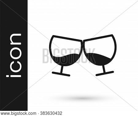 Grey Glass Of Cognac Or Brandy Icon Isolated On White Background. Vector Illustration