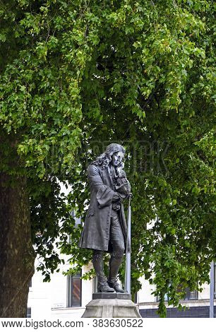 Bristol, Uk - July 15, 2017: A Controversial Statue Of Slave Trader Edward Colston. Its Face Is Mark