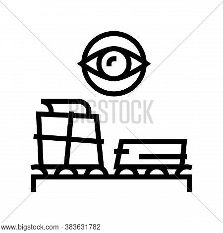 Paper Production Control Line Icon Vector. Paper Production Control Sign. Isolated Contour Symbol Bl