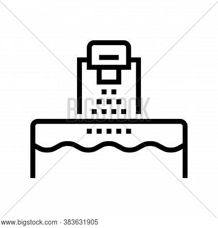 Washing Machine Line Icon Vector. Washing Machine Sign. Isolated Contour Symbol Black Illustration