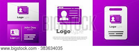 Logotype Resume Icon Isolated On White Background. Cv Application. Searching Professional Staff. Ana
