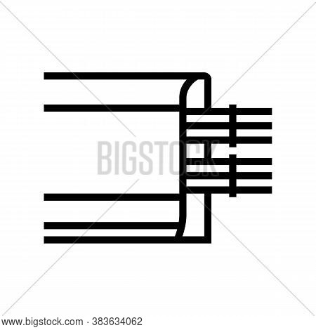 Cable Laying In Skirting Board Line Icon Vector. Cable Laying In Skirting Board Sign. Isolated Conto