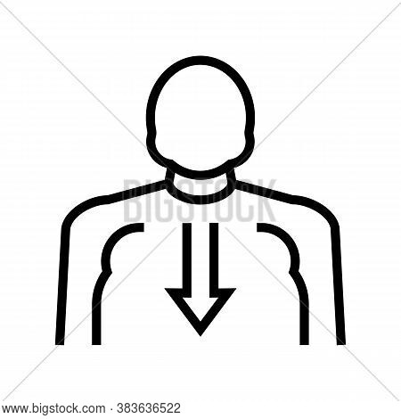Bulimia Psychological Problems Line Icon Vector. Bulimia Psychological Problems Sign. Isolated Conto