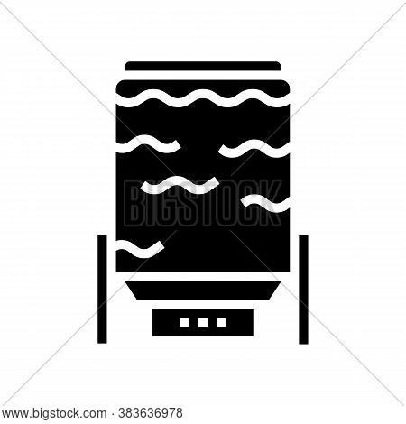 Oxygen Delignification System Glyph Icon Vector. Oxygen Delignification System Sign. Isolated Contou