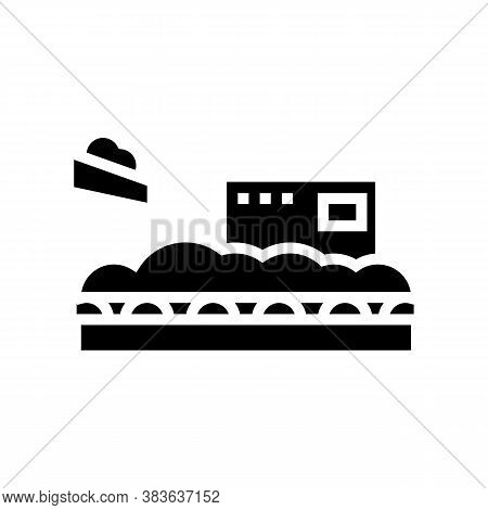Wood Chips Add On Conveyor Glyph Icon Vector. Wood Chips Add On Conveyor Sign. Isolated Contour Symb