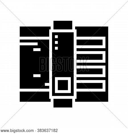 Paper Cut Equipment Glyph Icon Vector. Paper Cut Equipment Sign. Isolated Contour Symbol Black Illus