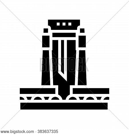 Paper Cutting Machine Glyph Icon Vector. Paper Cutting Machine Sign. Isolated Contour Symbol Black I