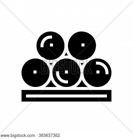 Paper Rolls Product Glyph Icon Vector. Paper Rolls Product Sign. Isolated Contour Symbol Black Illus