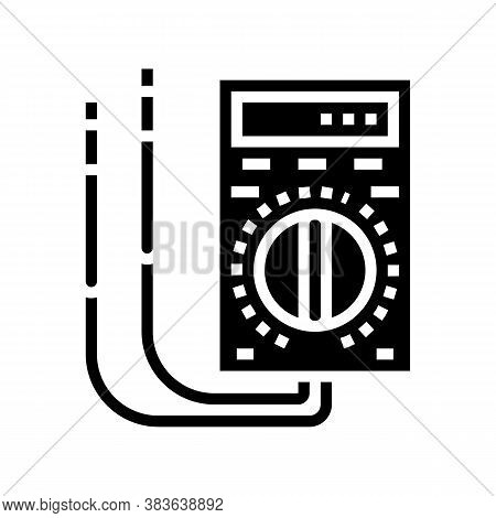Ammeter Tool Glyph Icon Vector. Ammeter Tool Sign. Isolated Contour Symbol Black Illustration