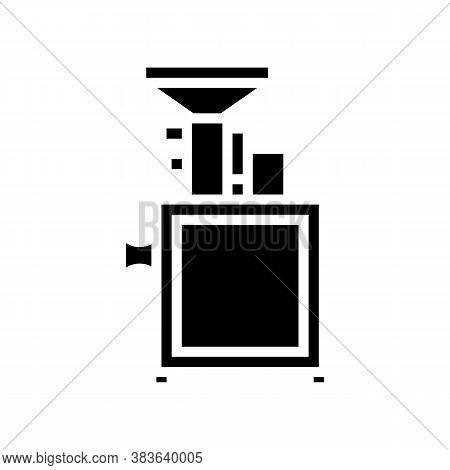 Grinding Equipment Glyph Icon Vector. Grinding Equipment Sign. Isolated Contour Symbol Black Illustr