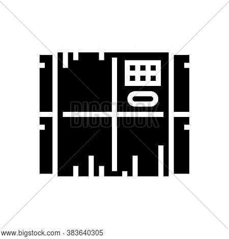 Chocolate Manufacture Tool Glyph Icon Vector. Chocolate Manufacture Tool Sign. Isolated Contour Symb