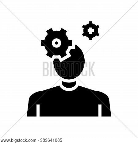 Autism Psychological Disease Glyph Icon Vector. Autism Psychological Disease Sign. Isolated Contour