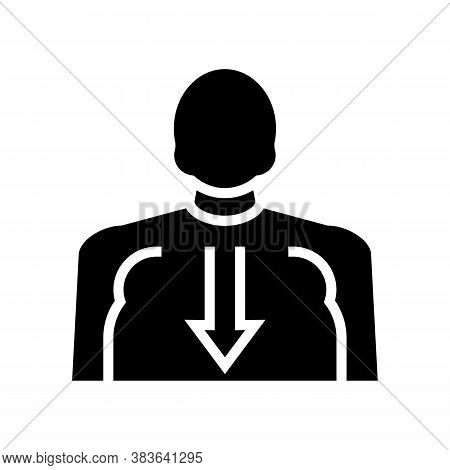 Bulimia Psychological Problems Glyph Icon Vector. Bulimia Psychological Problems Sign. Isolated Cont