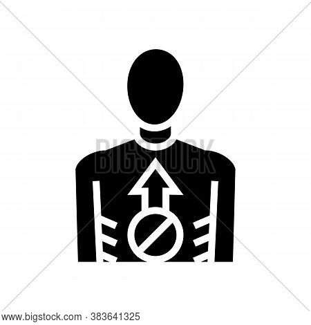 Anorexia Psychological Disease Glyph Icon Vector. Anorexia Psychological Disease Sign. Isolated Cont
