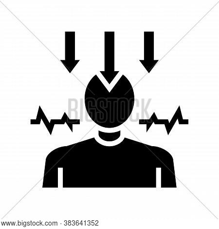 Neurosis Psychological Disease Glyph Icon Vector. Neurosis Psychological Disease Sign. Isolated Cont