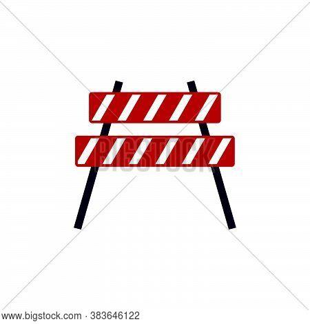 Roadblock Vector Design Template Illustration