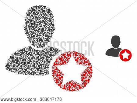 Vector Star Favourites Person Collage Is Composed Of Random Recursive Star Favourites Person Items.