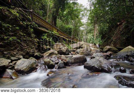 Waterfall Bukit Wang At Kubang Pasu District, Kedah.