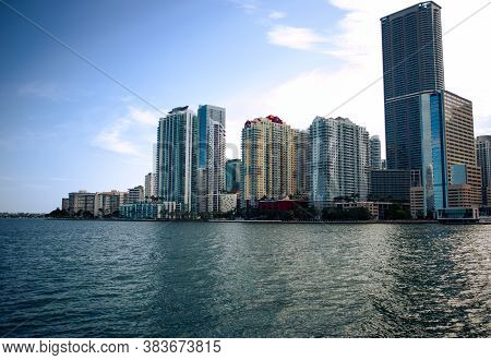 Contrast Look Of High Rises In Brickell Miami, Florida, Contrast Look Of Buildings In Brickell, Buil