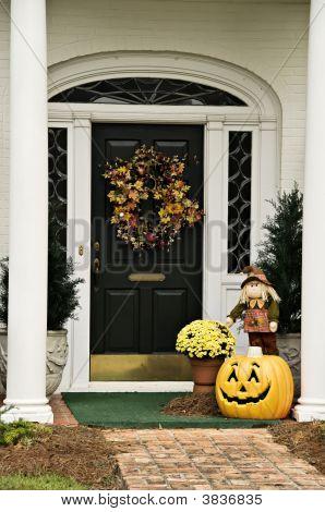 Fall Wreath And Decor